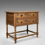 Metamorphic Side Table Oak Desk Mid Century Writing Table Circa 1960 London Fine Antiques