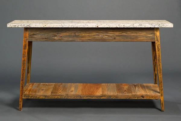Stone Top Console With Shelf – Landrum Tables