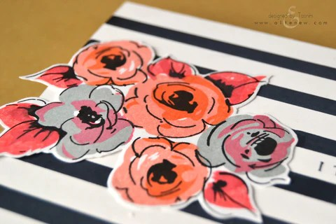 stripes and flowers card 2