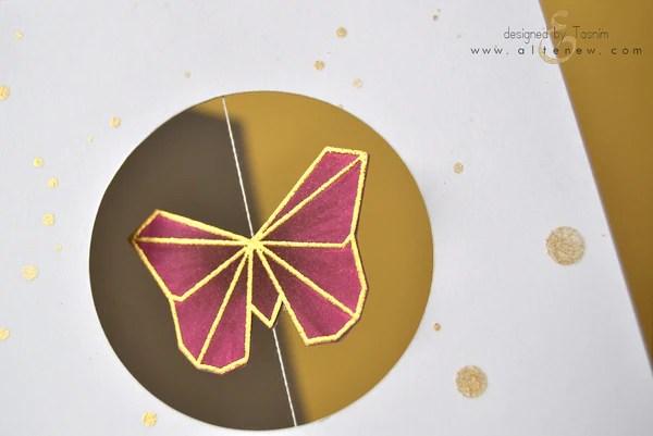 ori kami butterfly card 2
