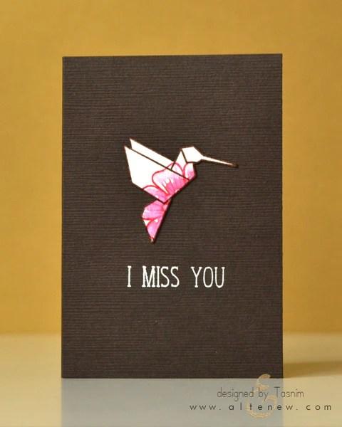 ori kami hummingbird card 1