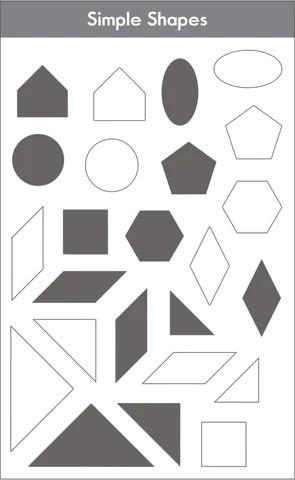 Simple shapes set