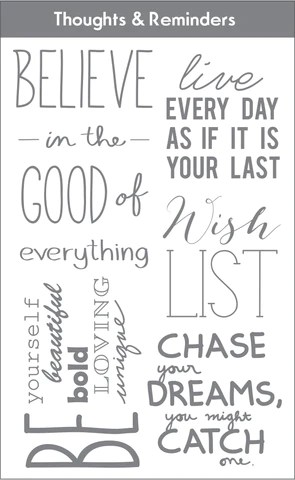 Thoughts and reminders set