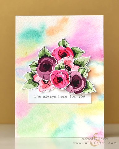 painted flowers card 5