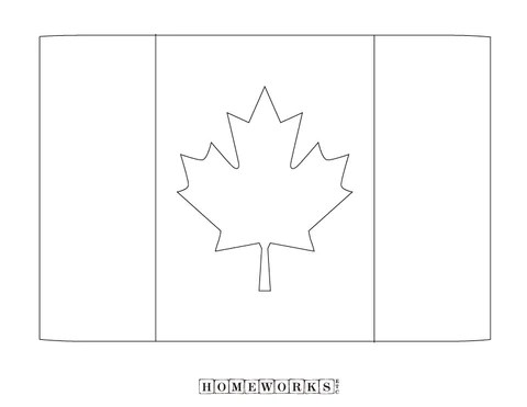 canada flag coloring page homeworks etc kids