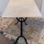 حليب كومة من بشكل مستقل Charming Black Iron And Marble Top Rectangular Bistro Table Preciousandfewphotography Com