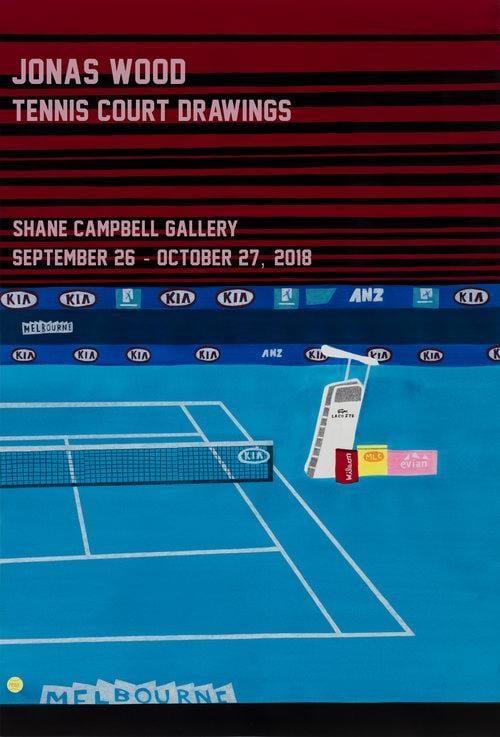 artrepublic jonas wood tennis court drawing poster 2018