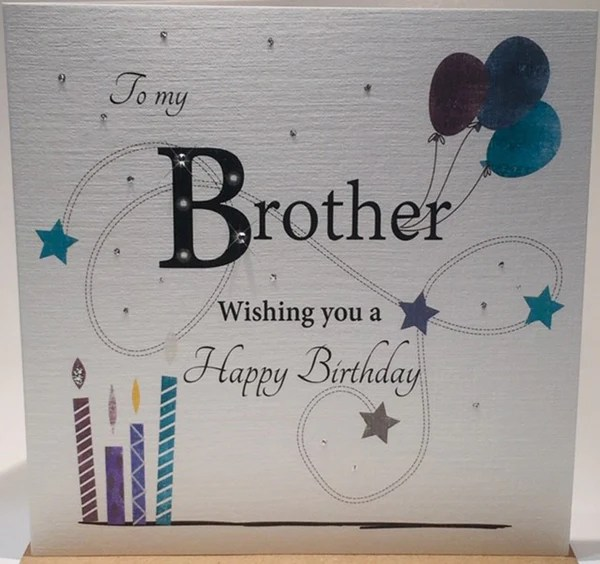 Brother Happy Birthday Card Brotherbirthdaycard 0799932700835 Birthday Card For Brother Brother Birthday Card Brother Birthday Card Ideas Brother Birthday Card Uk Brother Greeting Card Brother Greetings Card Card For Brother S Birthday Happy
