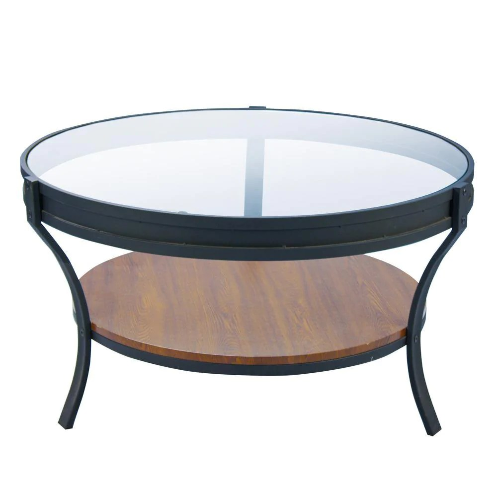 fortis coffee table glass and oak