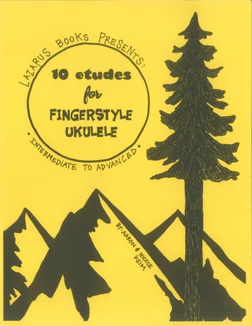 Book cover for '10 Etudes for Fingerstyle Ukulele' for intermediate to advanced players