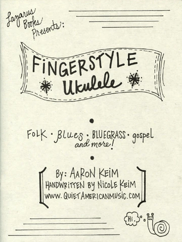Book cover for 'Fingerstyle Ukulele' featuring folk, blues, bluegrass, gospel, and more!