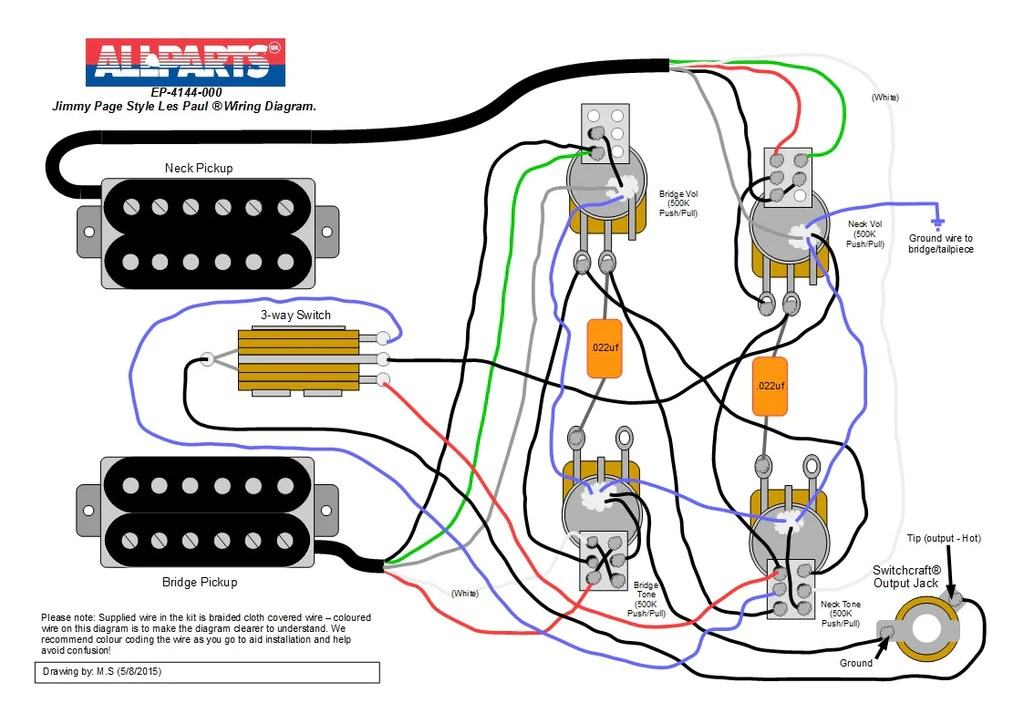 Wiring kit  Jimmy Page Les Paul® Style – Allparts UK
