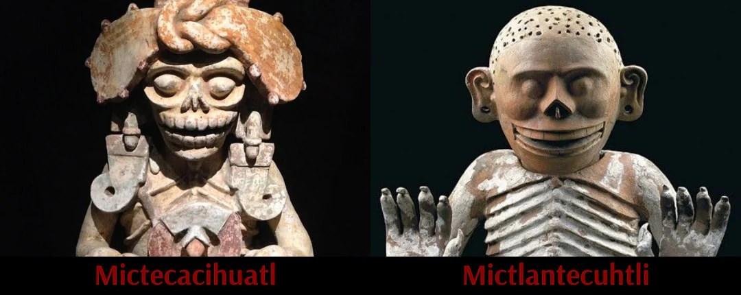Mictlantecuhtli and Mictecacihuatl God and Goddess of Death