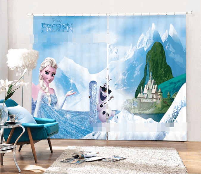 3D Frozen Elsa 2093 Curtains Drapes   AJ Wallpaper 3D Frozen Elsa 2093 Curtains Drapes