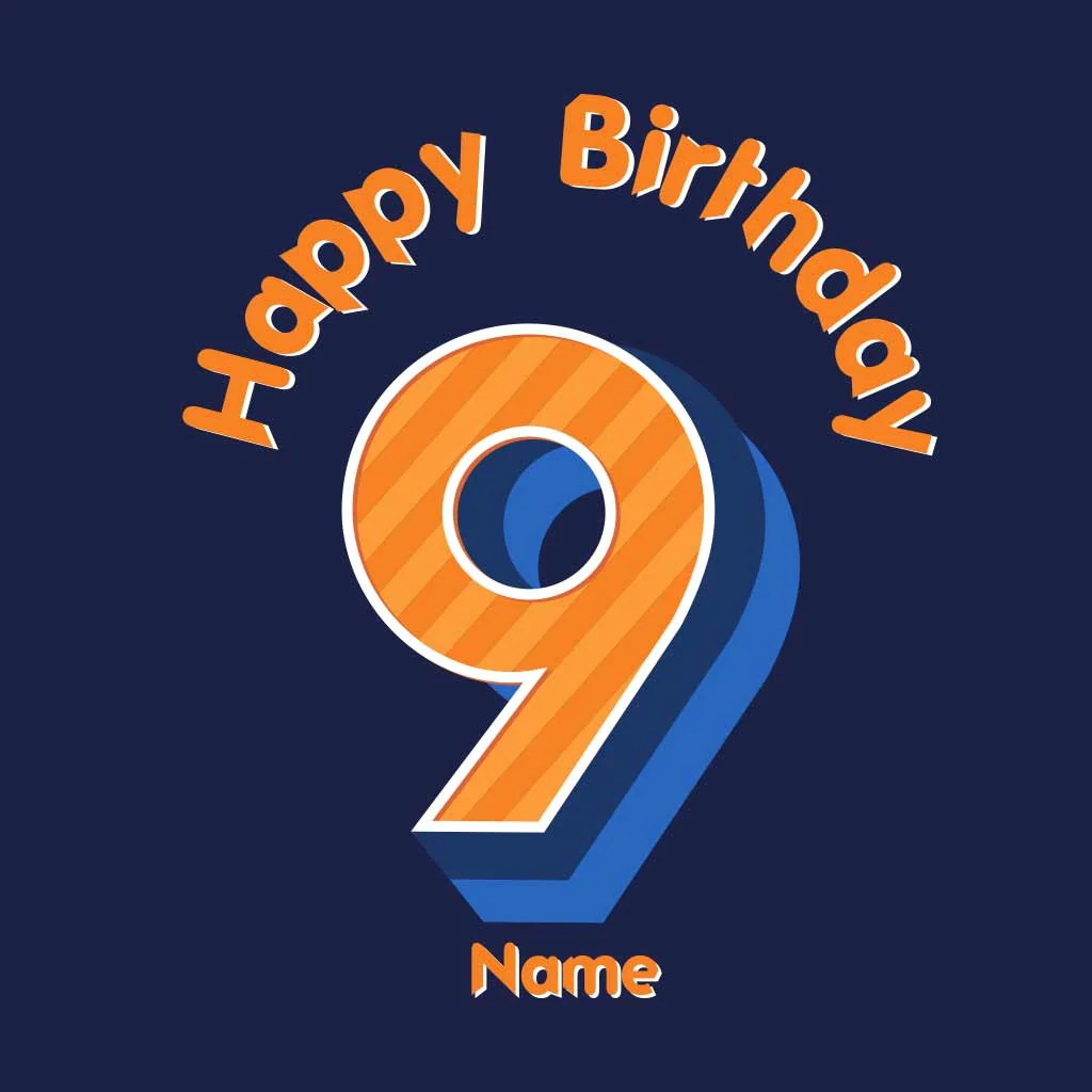 Happy Birthday 9 Boy Tee
