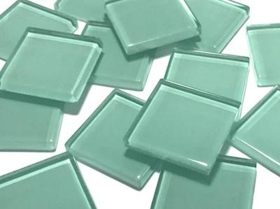 aqua green no 1 glass mosaic tiles 2 5cm hm