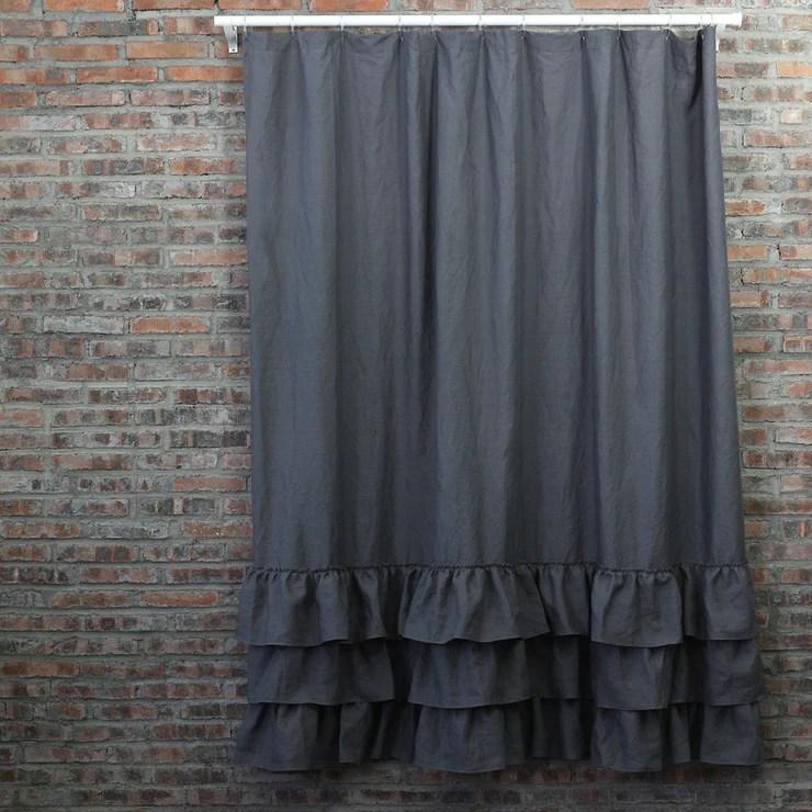washed layered ruffles linen shower