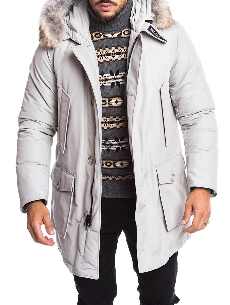 MENS CLOTHING GREY ARCTIC DRIFTER PARKA WOOLRICH