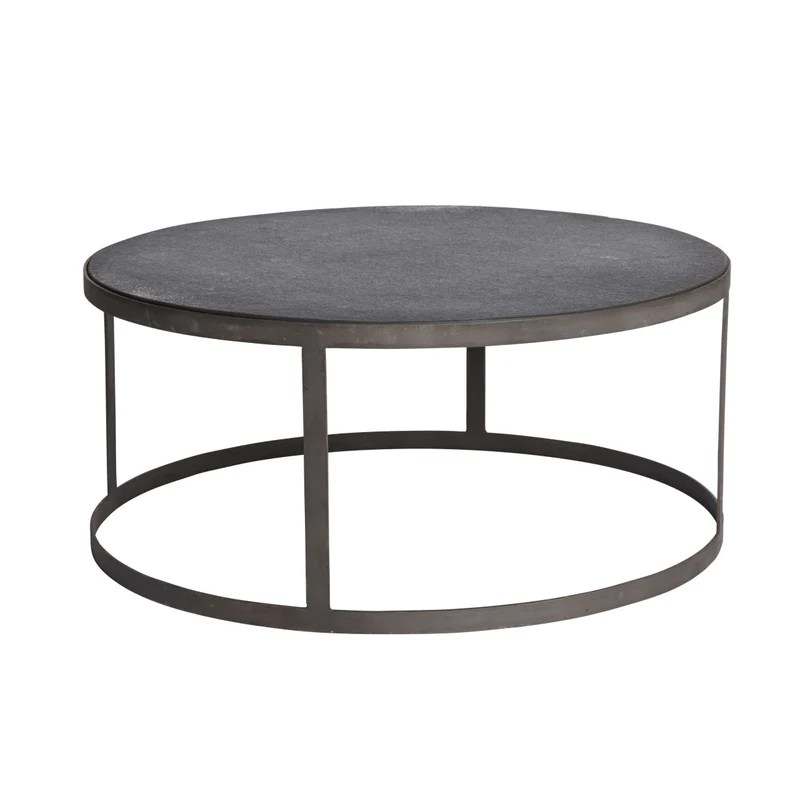 iron and stone coffee table low high