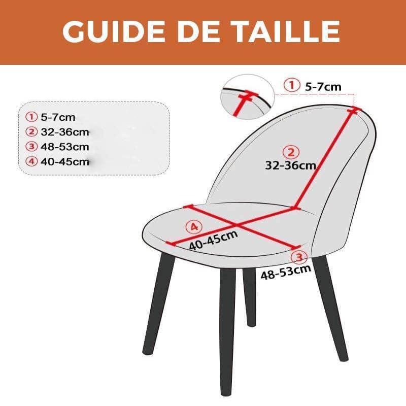 housse chaise de bar scandinave rouge