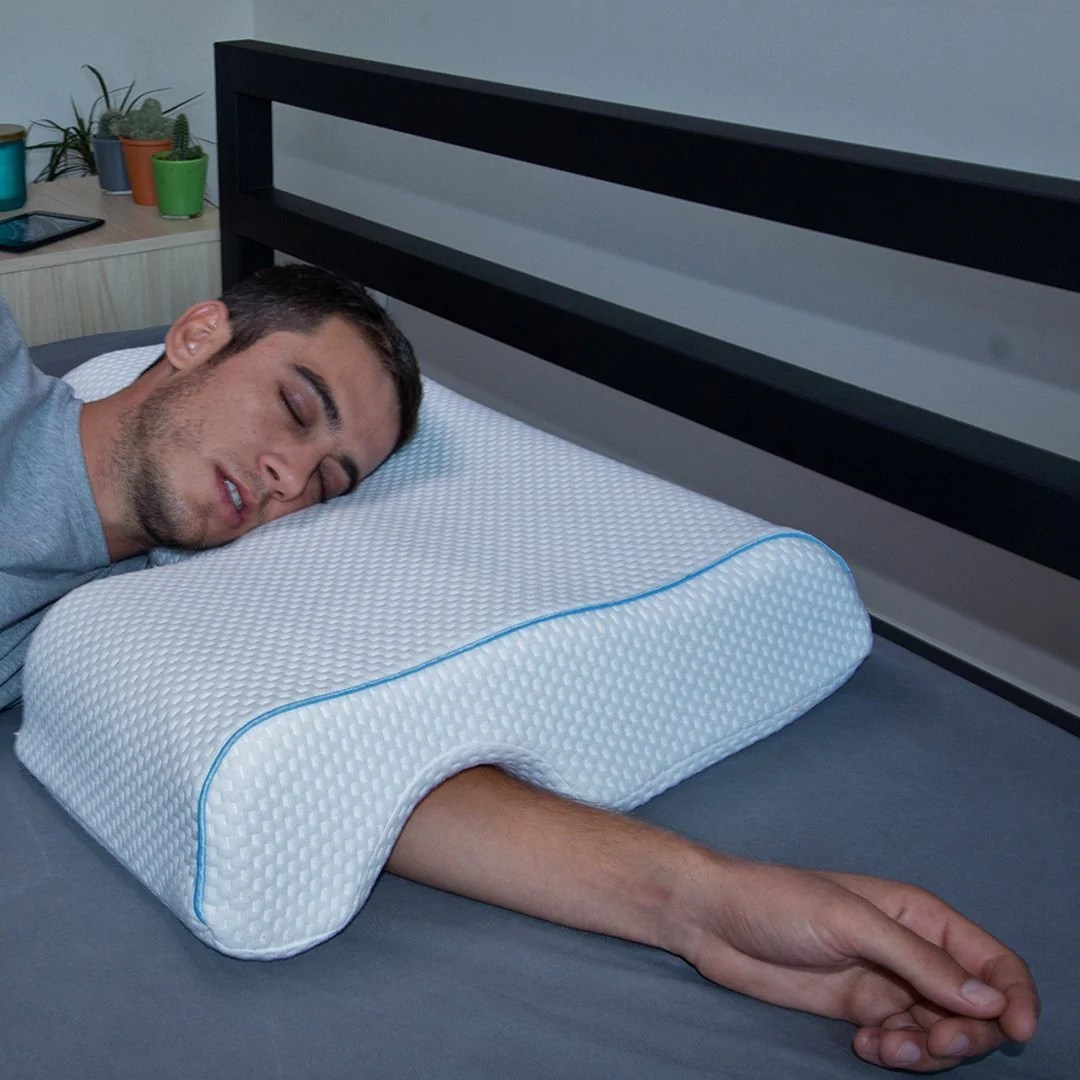 the arm pillow foam pillow for couples side sleepers