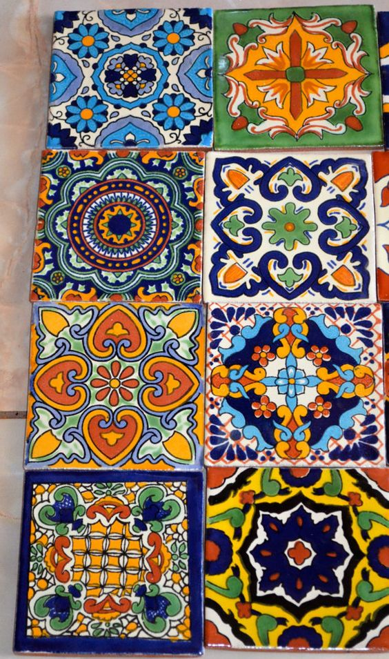 use mexican inspired tile