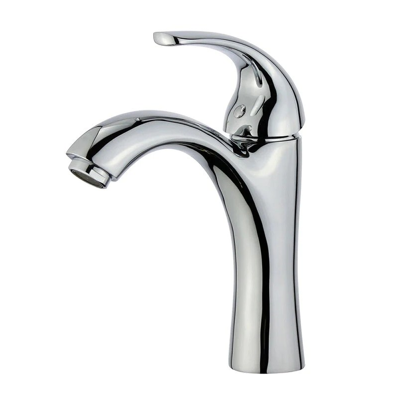bellaterra home faucet single hole single handle bathroom faucet in polished chrome stainless steel bathroom sink faucets seville 10165b1 pc wo