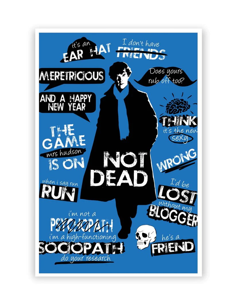 Posters Online India | Sherlock Holmes Typography Quotes ...