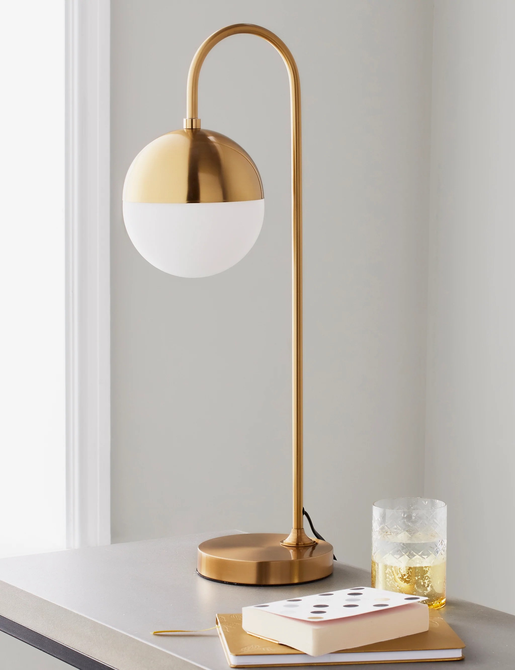 Gold Globe Table Lamp The Den Now