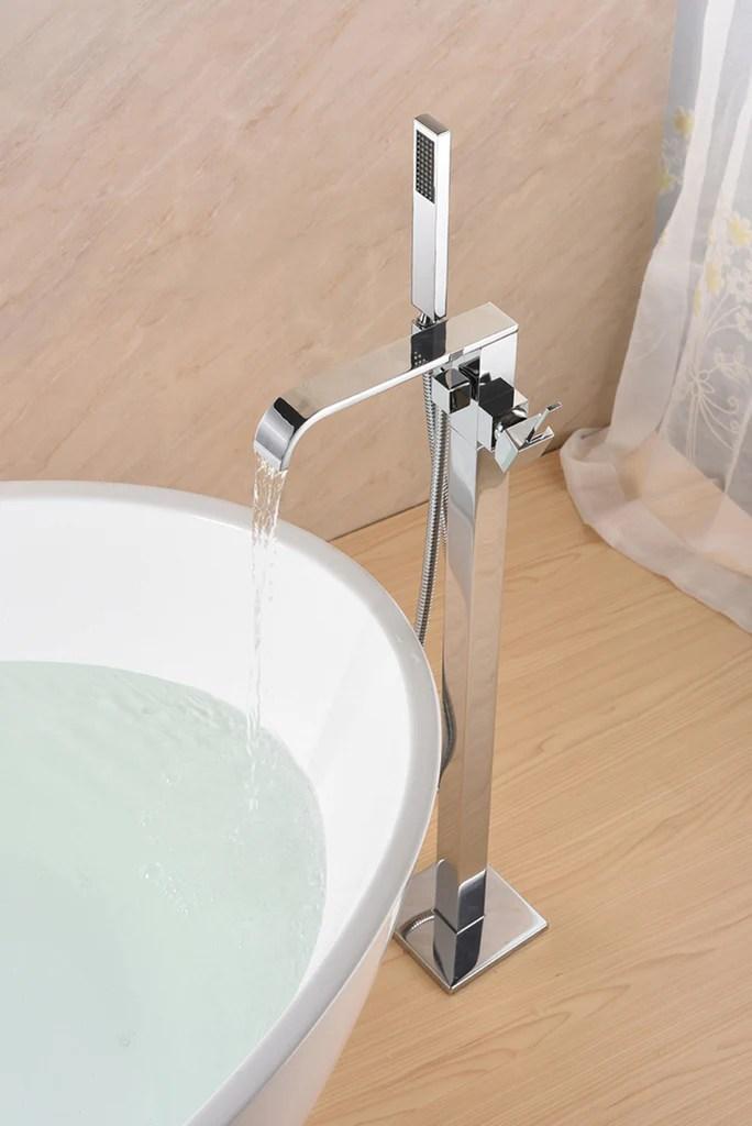 sevenfalls 8015 freestanding bathtub faucet with hand shower