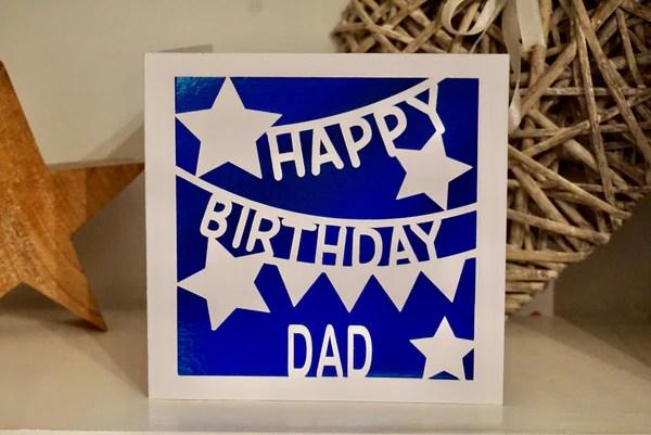 Happy Birthday Dad Card Birthday Dad Celebration Handmade Da Craftypants