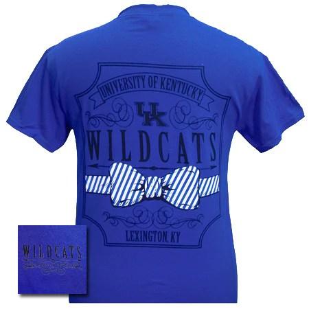 New UK Kentucky Wildcats Big Blue Prep Pattern Bow Girlie