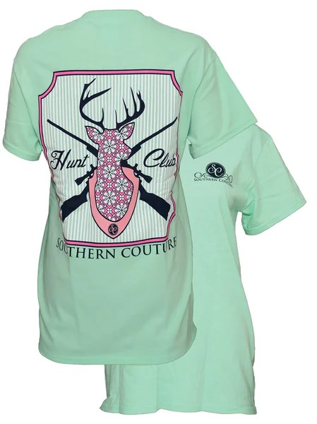 Southern Couture Country Deer Girlie Bright T Shirt