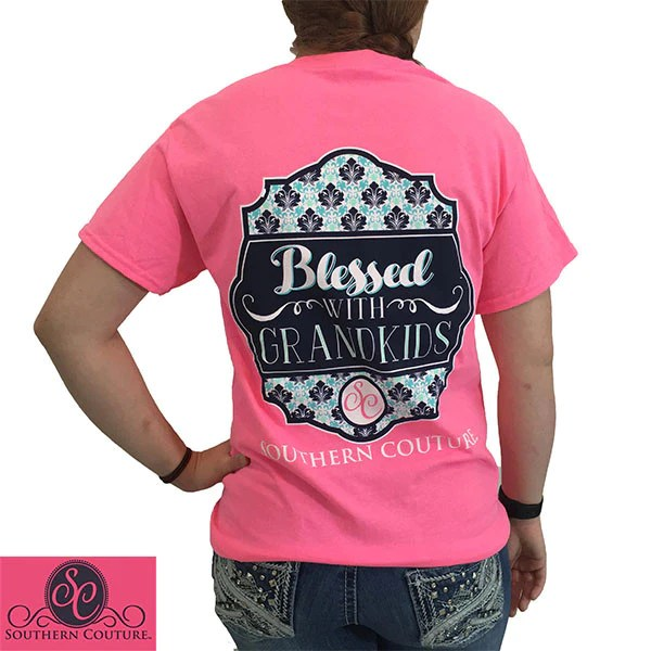SALE Southern Couture Blessed With Grandkids Grandma Nana