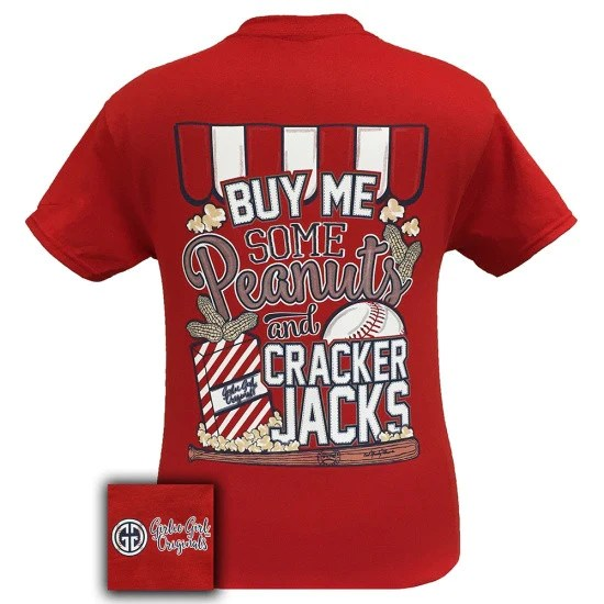 Girlie Girl Originals Baseball Peanuts Cracker Jacks
