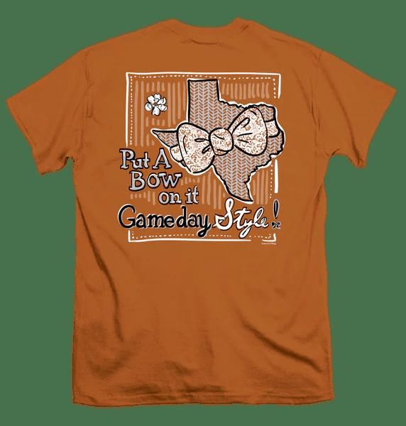 Itsa Girl Thing Texas Longhorns Gameday Bow Orange Bright