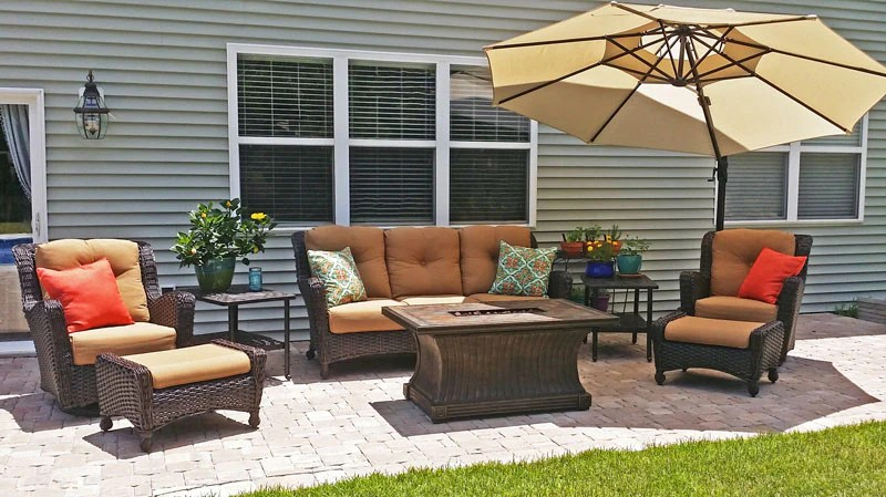 richmond collection wicker deep seating