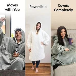 Huggie Hoodie | Lovely Oversized Blanket with Sleeves