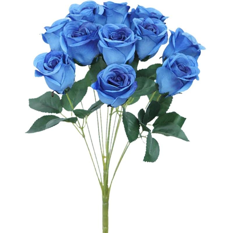 roses artificielles bleues