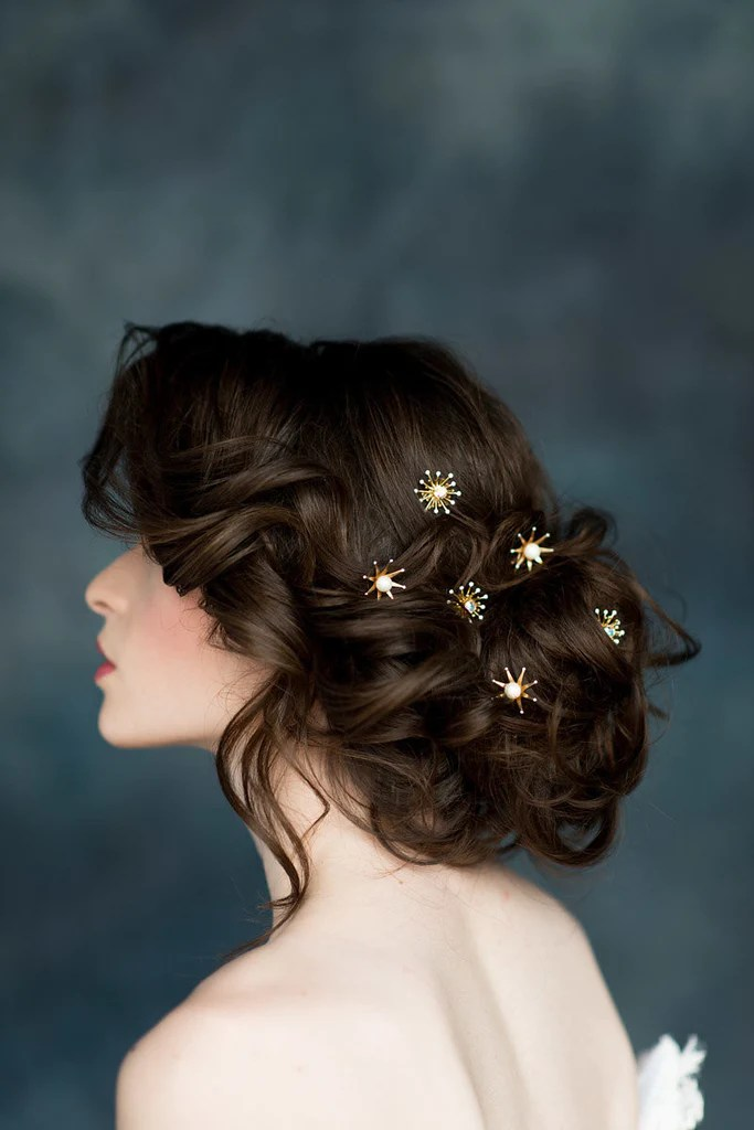 luna star hair pins