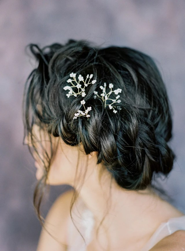 blanca babies breath hair pins