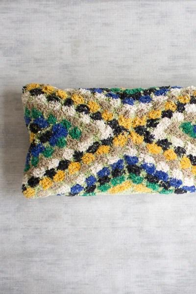 green blue yellow lumbar pillow
