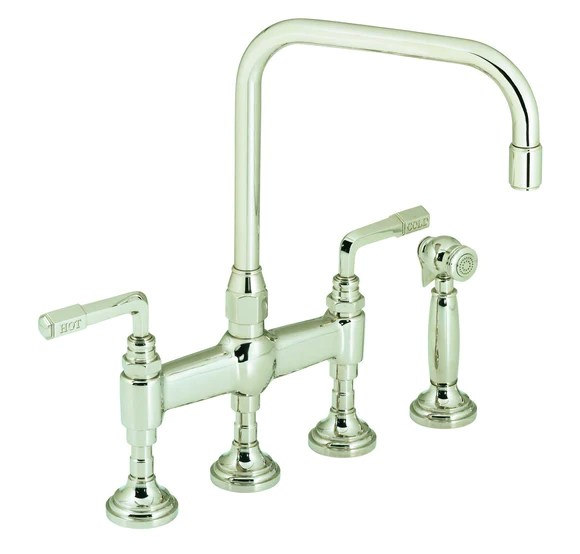 kallista p23051 lv cp for town kitchen faucet with sidespray lever handles in polished chrome
