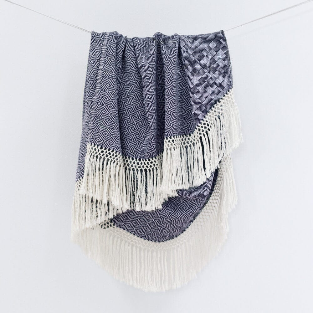 Indigo Throw Blanket 100 Alpaca Luxury Blankets The Citizenry