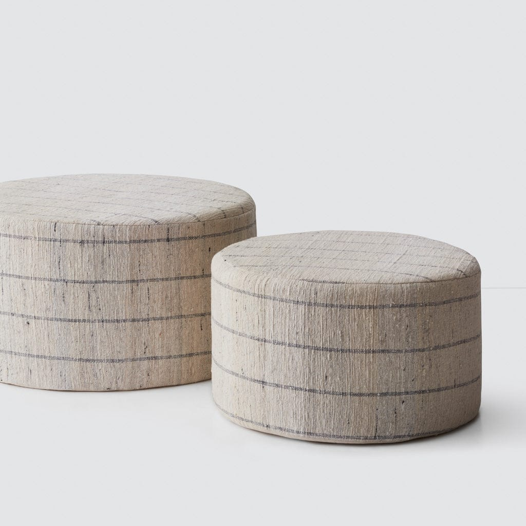 large cotton ottomans poufs