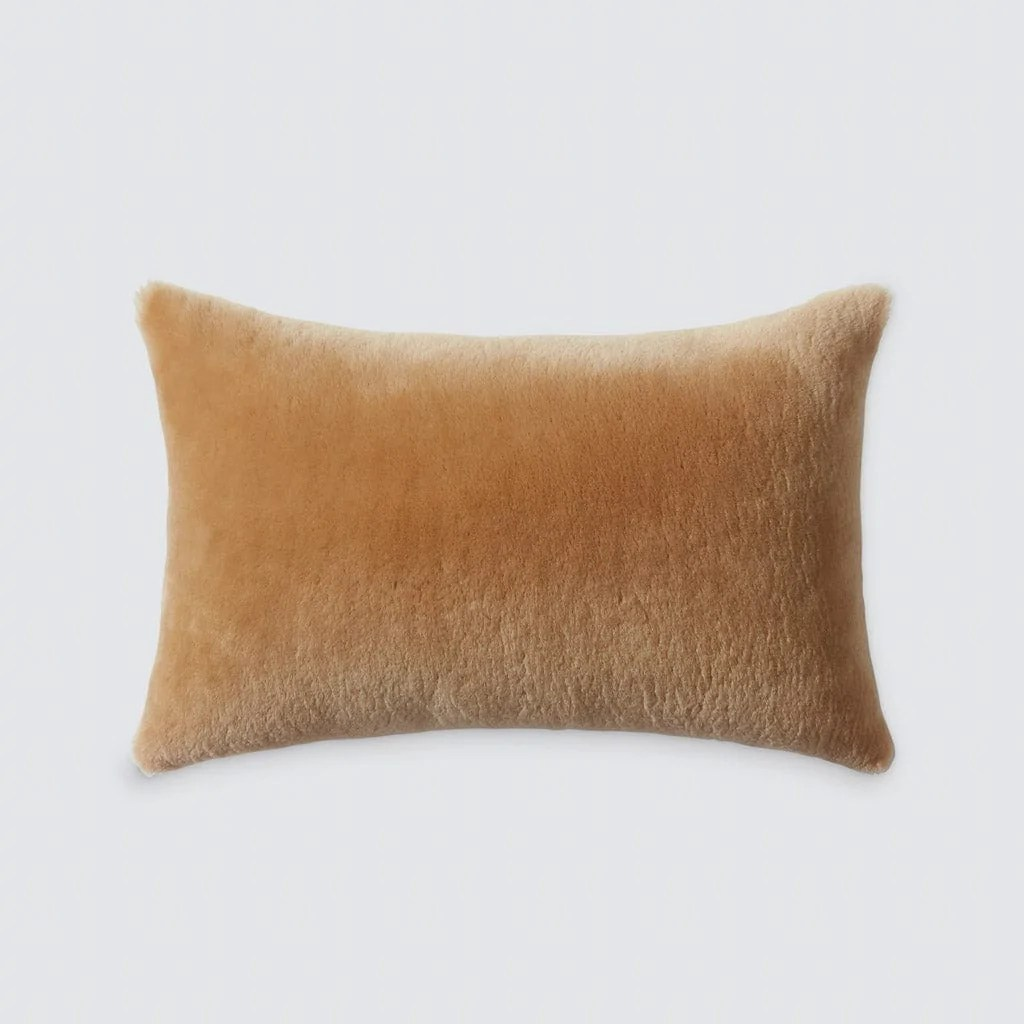 Sheepskin Lumbar Pillow Hancrafted In Portugal The Citizenry