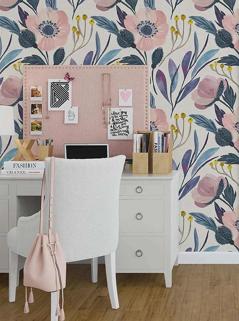 Removable Floral Watercolour Wallpaper Nursery Little Girl S Room Shop Human Concern International