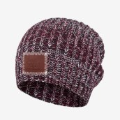 Black, Burgundy and White Beanie-Beanie-Love Your Melon