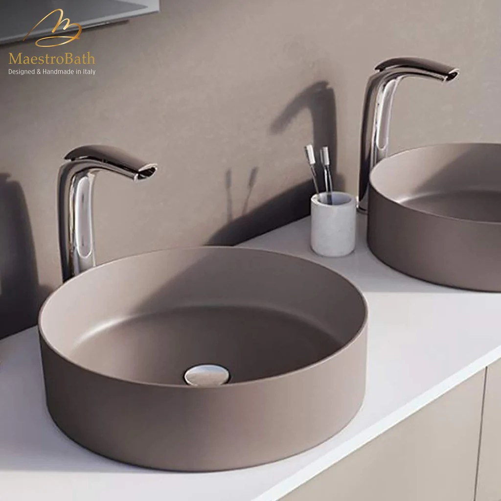 italian designer vessel sink faucet
