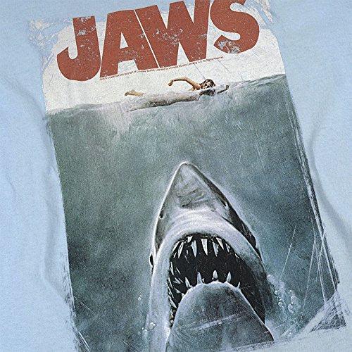 jaws shark original movie poster t shirt stickers x large light bl ninefit europe